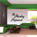 The Plumbing Professionals Wall Decal - Vinyl Decal - Car Decal - Business Sign - MC226