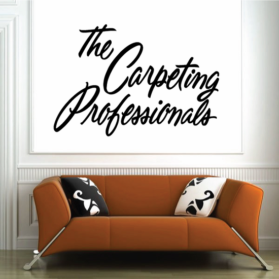 The Carpeting Professionals Wall Decal - Vinyl Decal - Car Decal - Business Sign - MC229