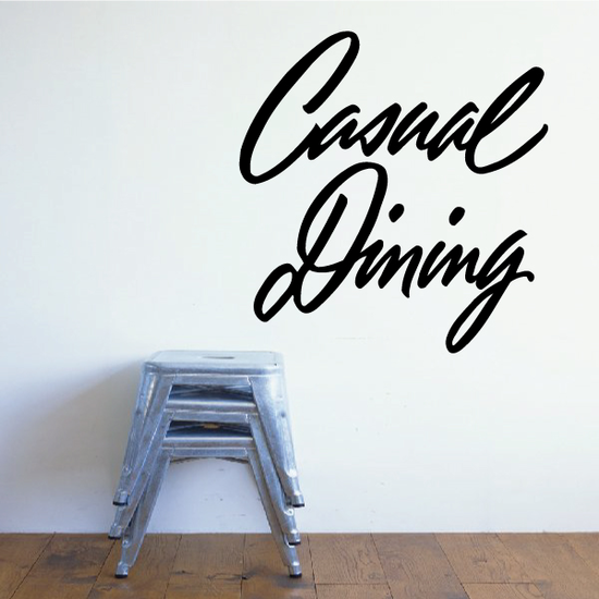 Casual Dining Wall Decal - Vinyl Decal - Car Decal - Business Sign - MC231