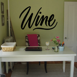 Wine Wall Decal - Vinyl Decal - Car Decal - Business Sign - MC235