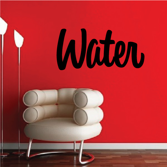 Water Wall Decal - Vinyl Decal - Car Decal - Business Sign - MC236