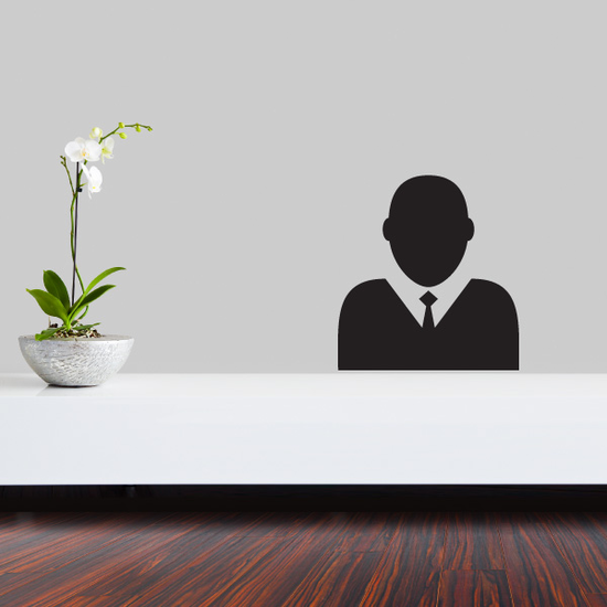 Silhouette Business Icon Wall Decal - Vinyl Decal - Car Decal - Id001