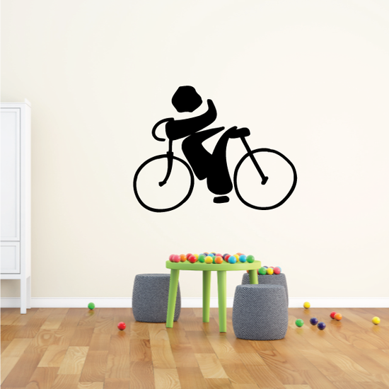 Abstract Bold Style Cyclist Decal