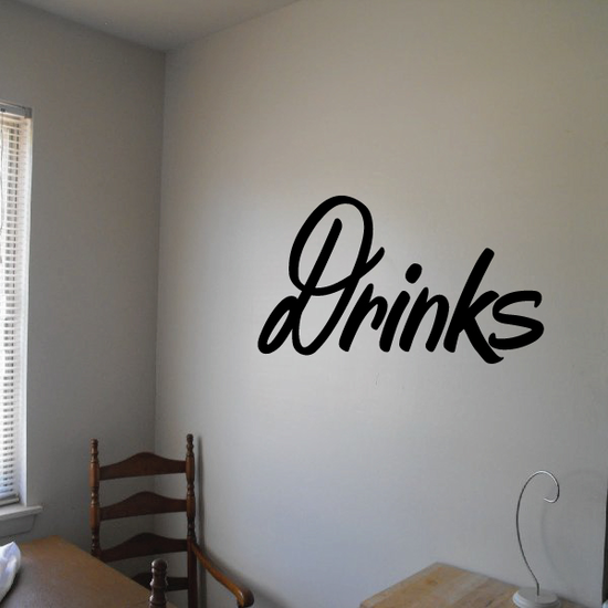 Drinks Wall Decal - Vinyl Decal - Car Decal - Business Sign - MC239