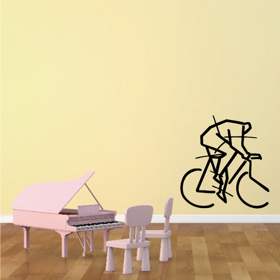 Abstract Art Lines Cyclist Decal