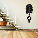 African Art Head Figurine Decal