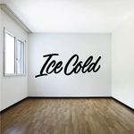Ice Cold Wall Decal - Vinyl Decal - Car Decal - Business Sign - MC243