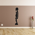 African Art Profile Statue Decal