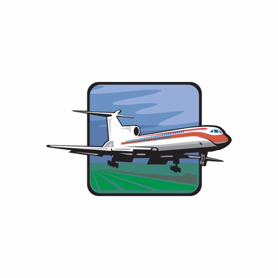 Airliner Sticker