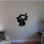 Posed Rooster Head Decal
