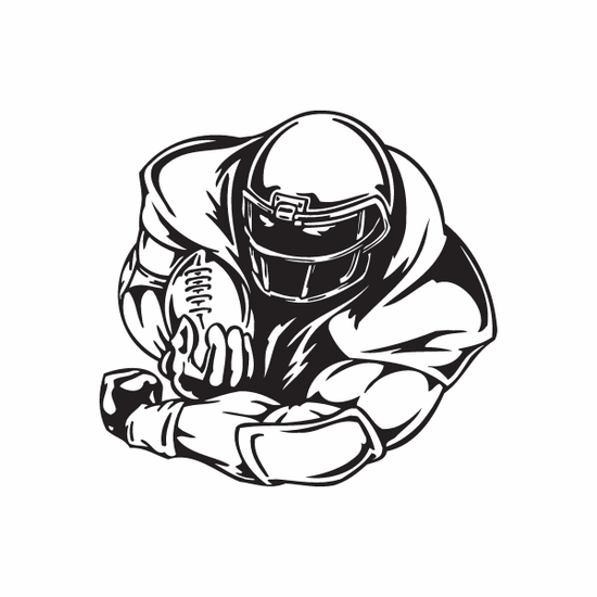Football Wall Decal - Vinyl Decal - Car Decal - DC 110