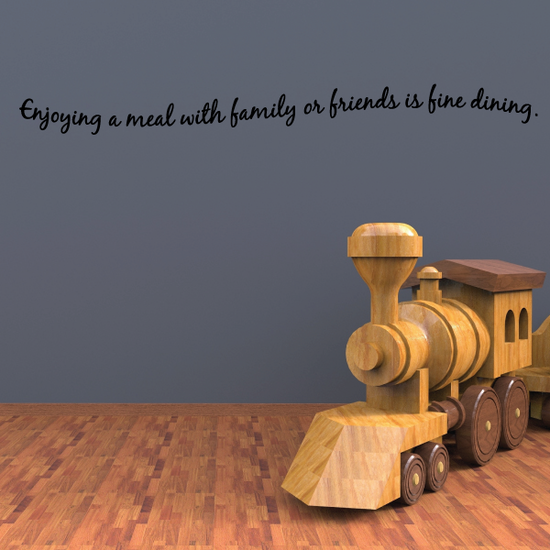 Enjoying a meal with family or friends is fine dining Wall Decal