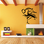 Man Jumping Hurdles Wall Decal - Vinyl Decal - Car Decal - Business Decal - MC14