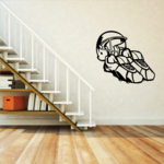 Football  Cleats and Helmet Wall Decal - Vinyl Decal - Car Decal - CDS042