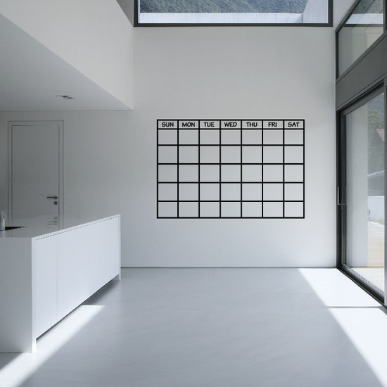 Monthly Calendar with Days Wall Decal