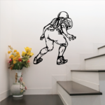 Football Player Wall Decal - Vinyl Decal - Car Decal - CDS082
