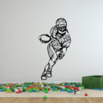 Football Player Wall Decal - Vinyl Decal - Car Decal - CDS103