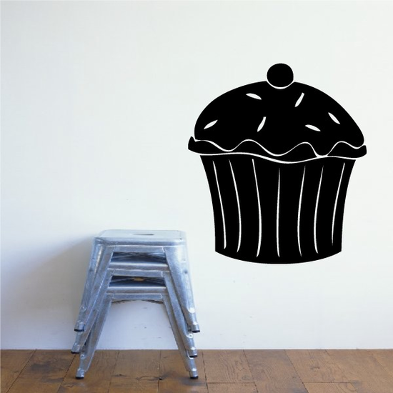 Cupcake with Sprinkles Decal