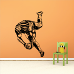 Football Player Wall Decal - Vinyl Decal - Car Decal - CDS113