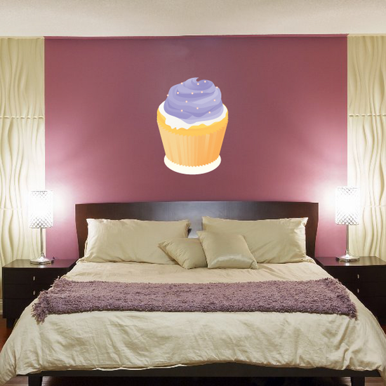Cupcake with Purple Frosting Sticker