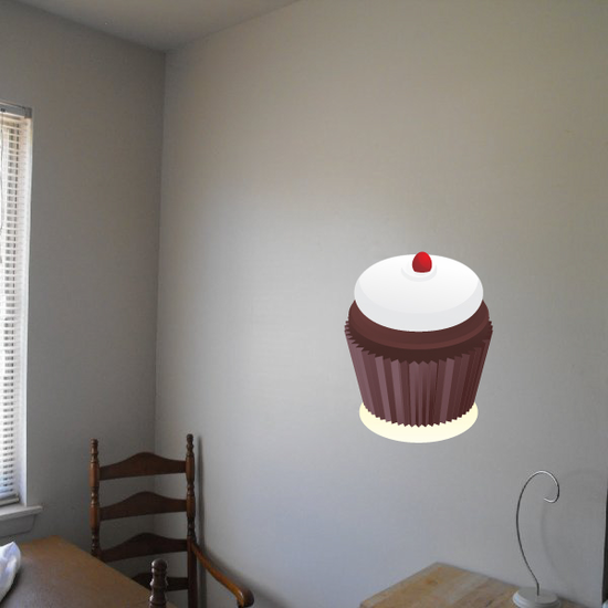 Cupcake with Frosting Sticker