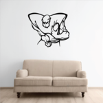 Football Mascot Wall Decal - Vinyl Decal - Car Decal - CDS124