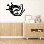Football Gear Impact  Wall Decal - Vinyl Decal - Car Decal - CDS130