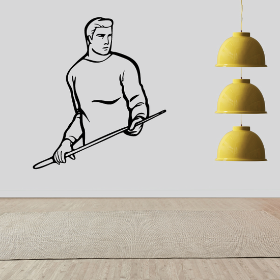 Male Pool Player Decal