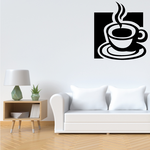 Steamy Coffee Cup Decal