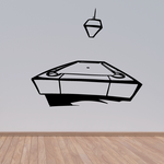 Pool Table with Lamp Decal