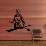 Billiards Detailed Player Ready to Strike Decal
