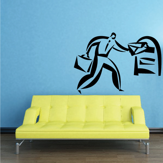 Sending Mail Wall Decal - Vinyl Decal - Car Decal - Business Decal - MC16