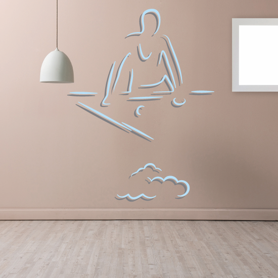 Observing Billiard Player Decal