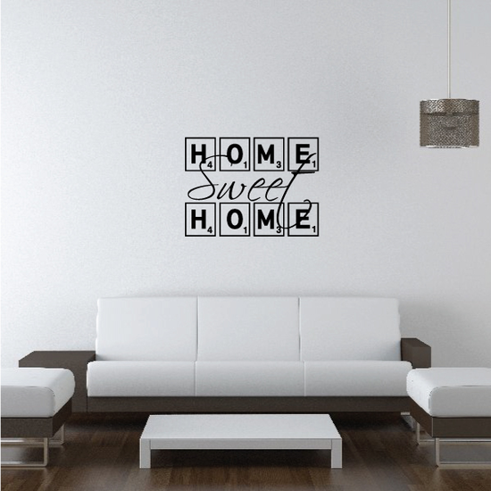 Home Sweet Home Tile Wall Quote