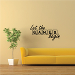 Let The Games Begin Tile Wall Decal