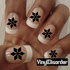 Snowflakes CF8064 Fingernail Art Sticker - Vinyl Finger Nail Decals