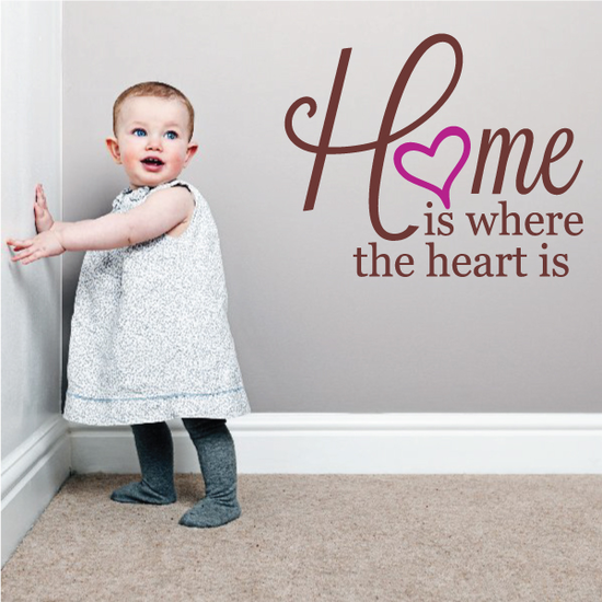 Home is Where the Heart is Printed Die cut Decal