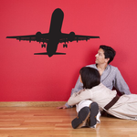 Commercial Airliner Taking Off Decal
