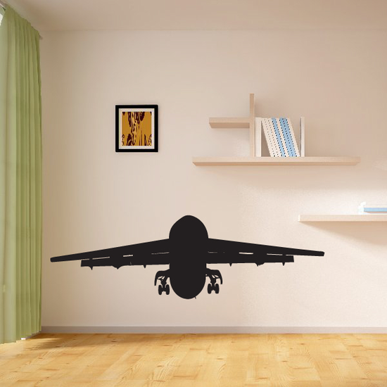 Pasenger Airliner Taking Off Decal