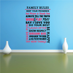 Family Rules Word Collage Printed Die Cut Decal