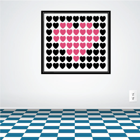 Heart Collage Wall Decal