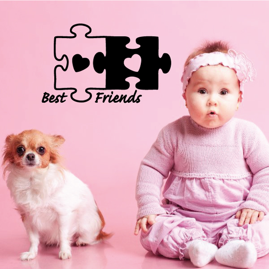 Best Friends Heat Puzzle Decal