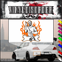 Pool Table Player Flaming Background Decal