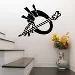 Billiards Hands Holding Cue Stick Decal