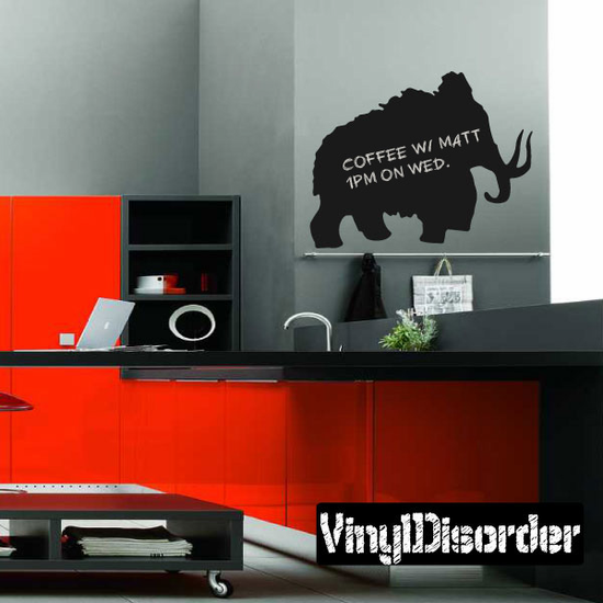 Wooly Mammoth Chalkboard Decal