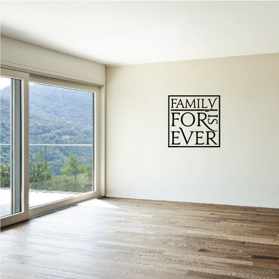 Family Is Forever Square Wall Decal