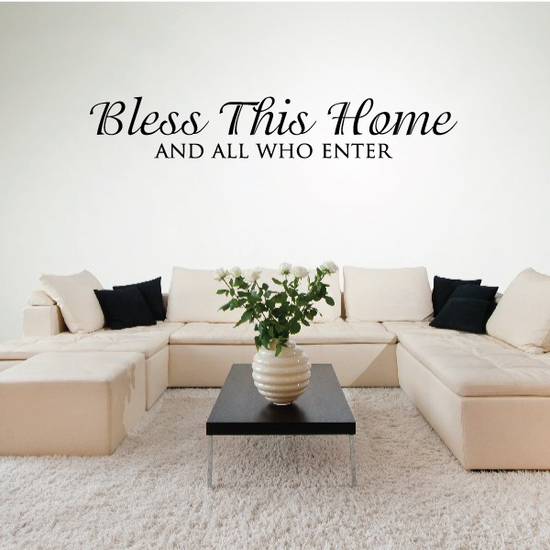 Bless This Home Wall Quote Decal