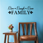 Live Laugh Love Family Wall Decal