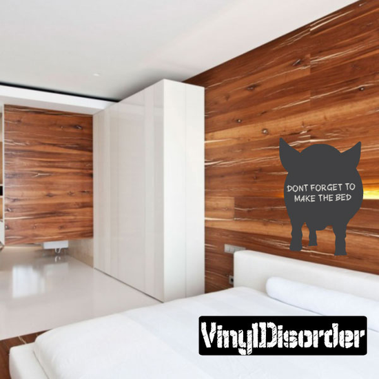 Pig Front Facing Chalkboard Decal