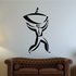 Man Holding Bowl Wall Decal - Vinyl Decal - Car Decal - Business Decal - MC22